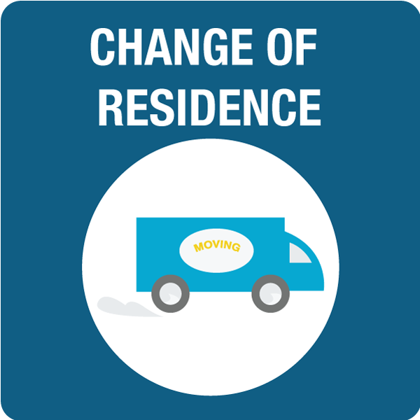 Change in Residence