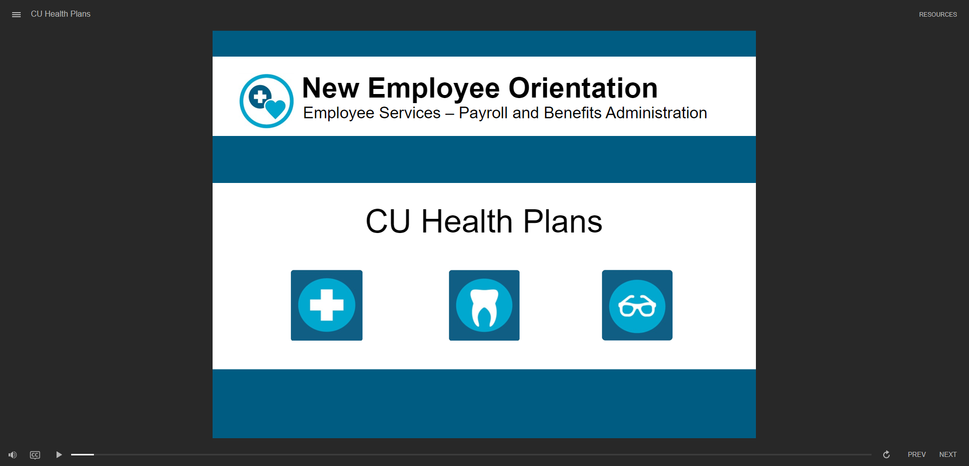 CU Health Plans - click to watch course