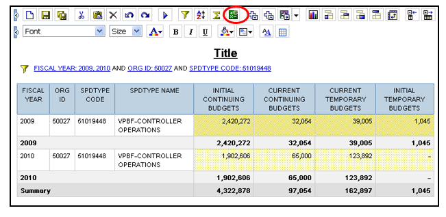 Query Studio Grouping Sorting Sectioning Filtering And