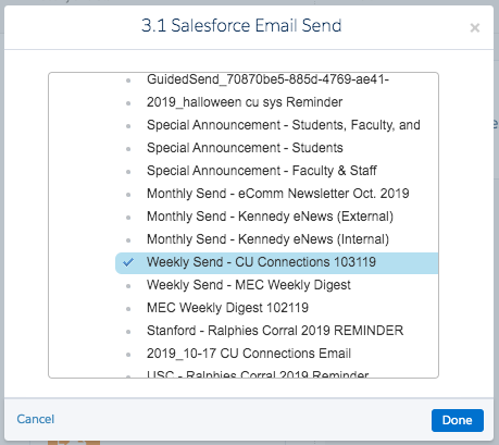 Select Salesforce Send Email