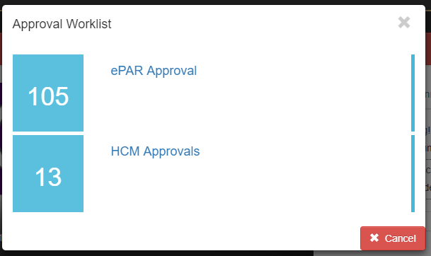 Approval Worklist