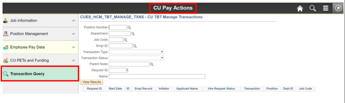CU Pay Actions