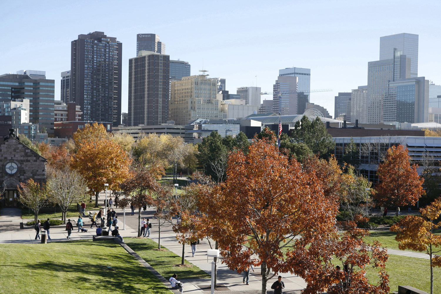 A new of the CU Denver campus