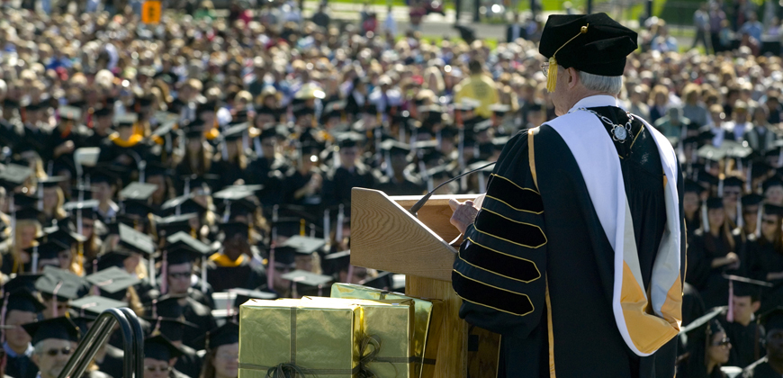 President Benson speaks at CU Denver's commencement