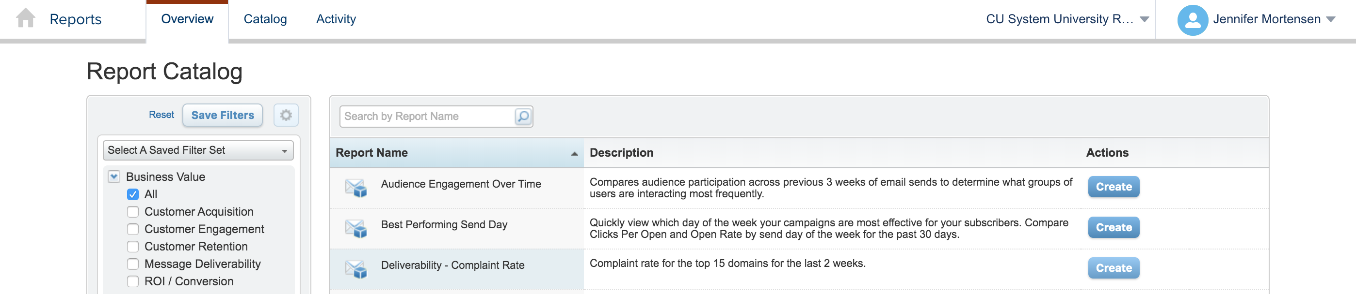 Deliverability - Complaint Rate Report