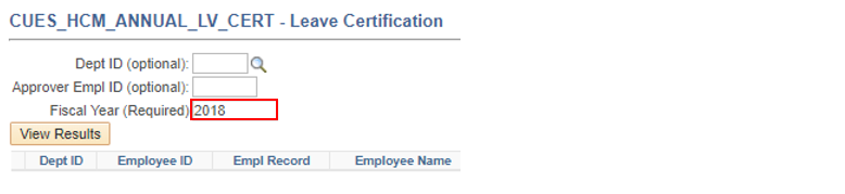 Leave Certification Query