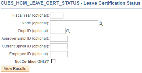 Leave Certification Status query