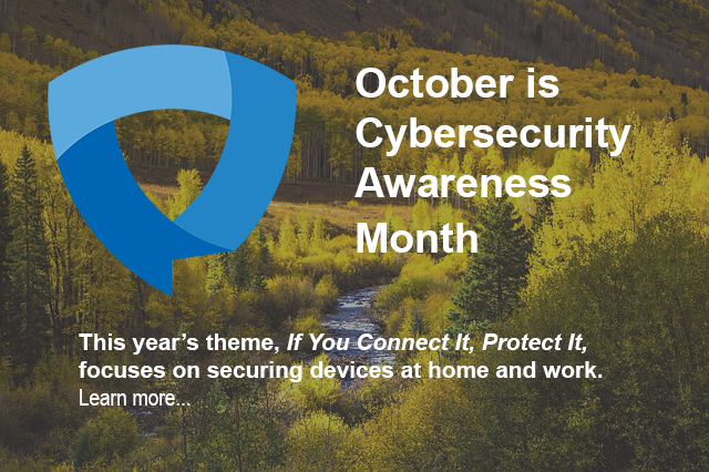 October is Cybersecurity Awareness Month