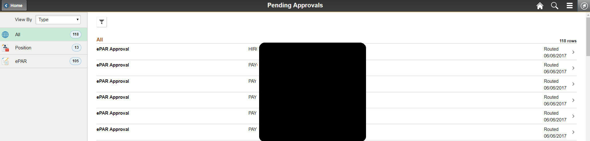 Pending Approvals