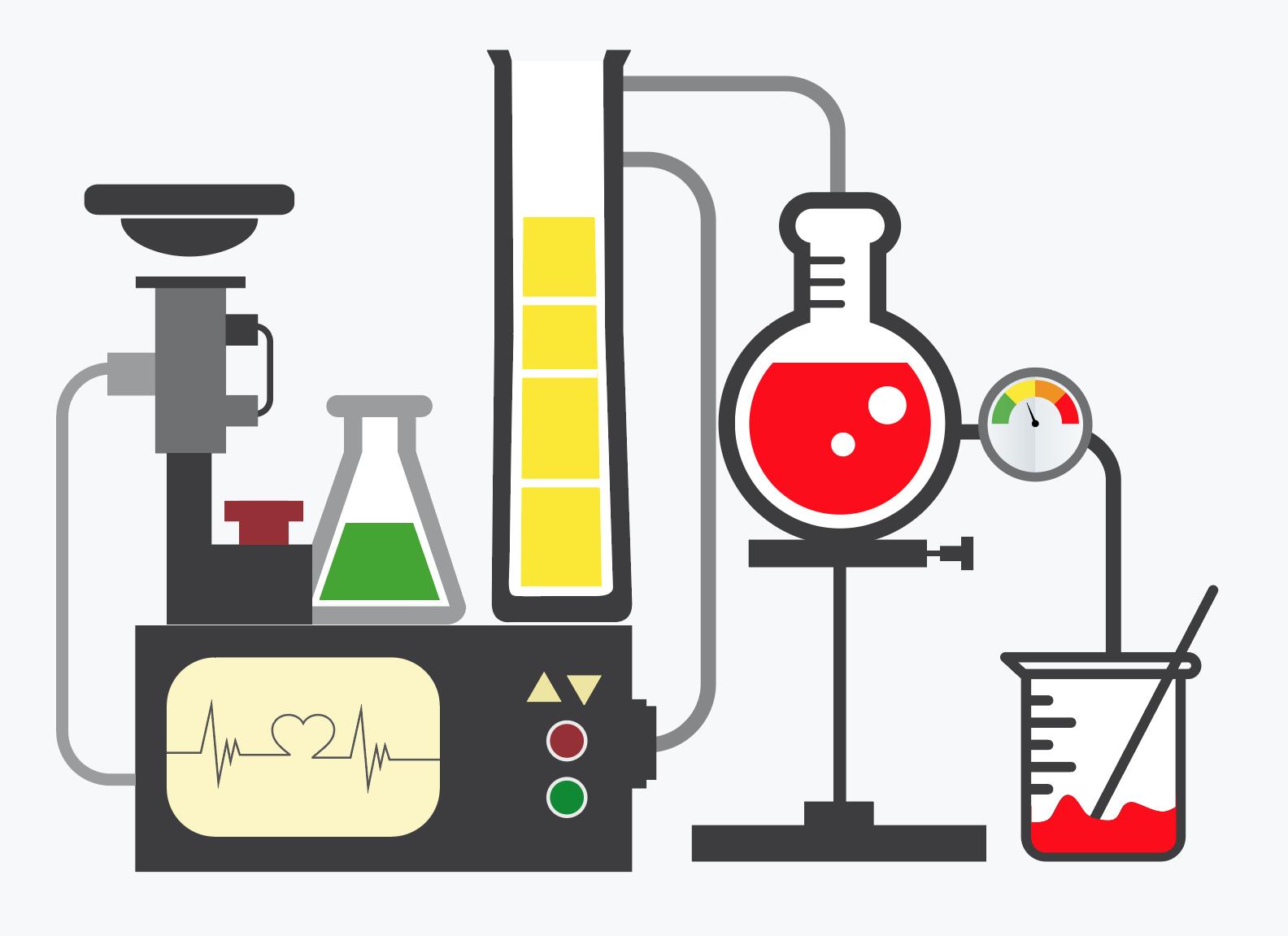 золотистый химические аппараты картинки плита