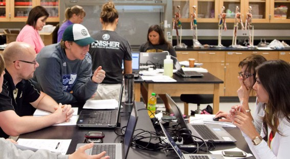 UCCS teachers learning biomedical engineering