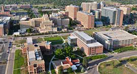 Photo of the Anschutz Medical Campus from an aerial view.