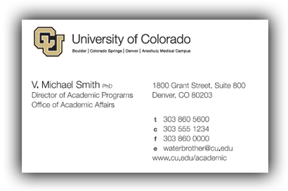 business collateral business card - Business Cards Denver
