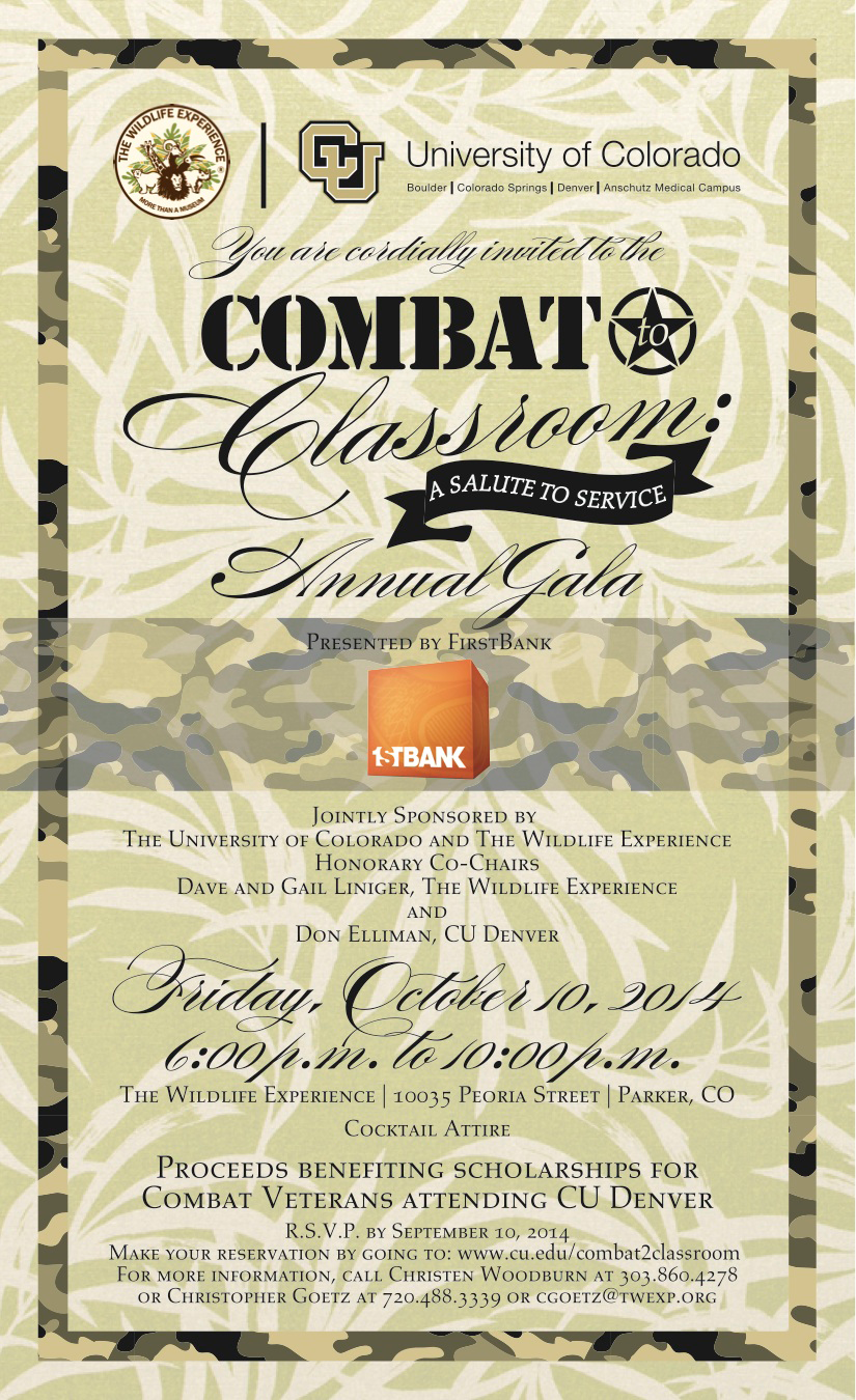 The Wildlife Experience and CU Combat to Classroom Gala