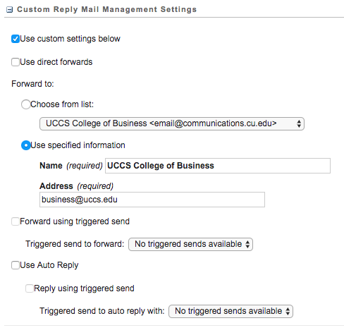 Custom Reply Mail Management