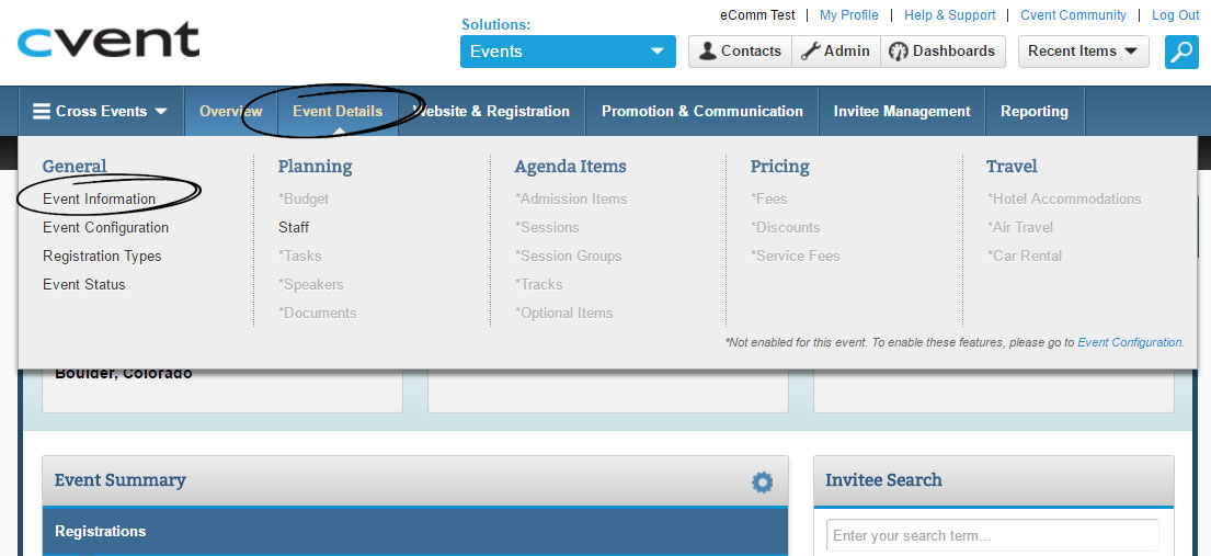 Cvent, Standard | How to setup payment information | University of ...