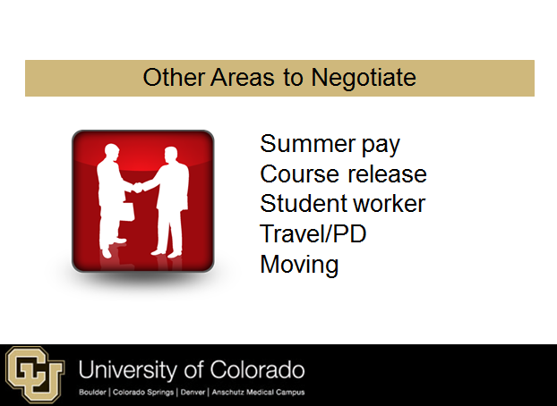 Important negotiations as a new faculty member
