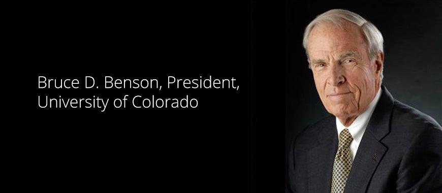 President Bruce Benson