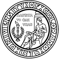 Official University of Colorado Seal