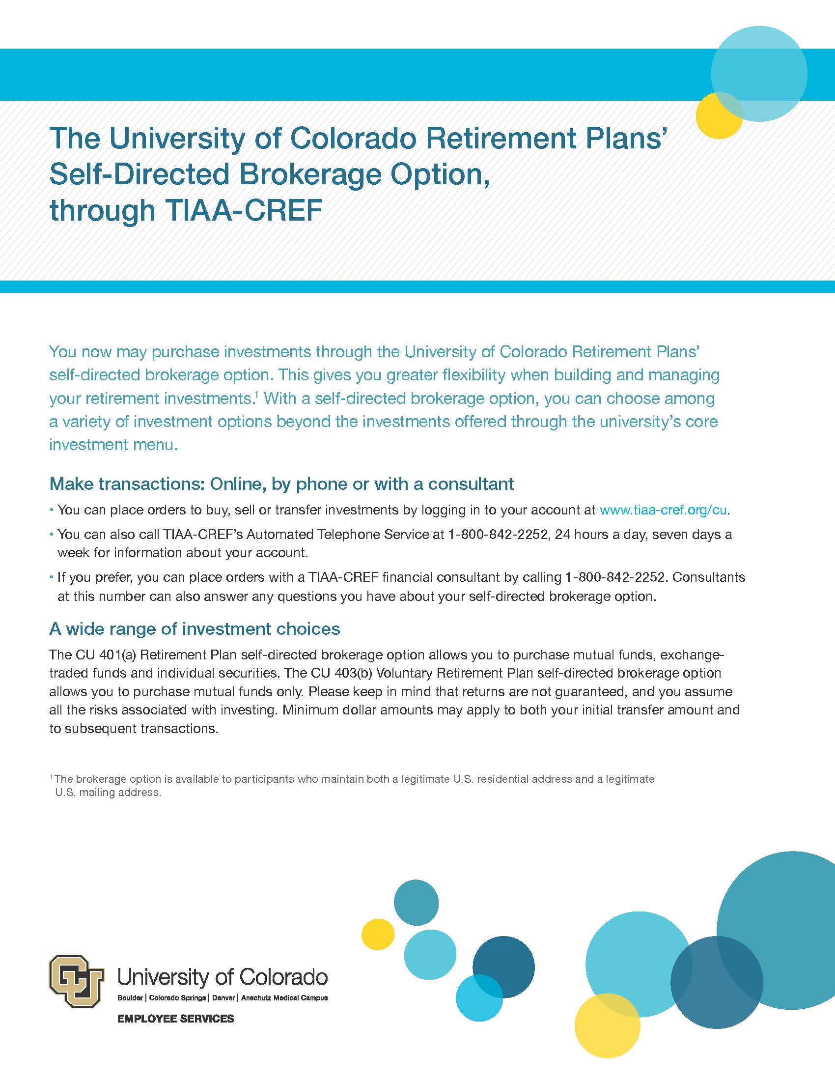 Voluntary Retirement Savings Plans University Of Colorado