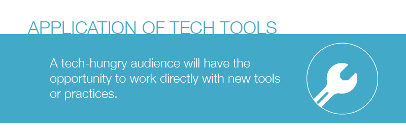Session Type : Application of Tech Tools.  A tech-hungry audience will have the opportinity to work directly with new tools or practices.