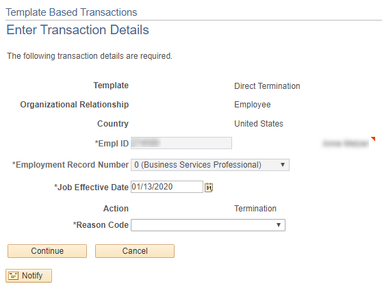 Enter transaction details