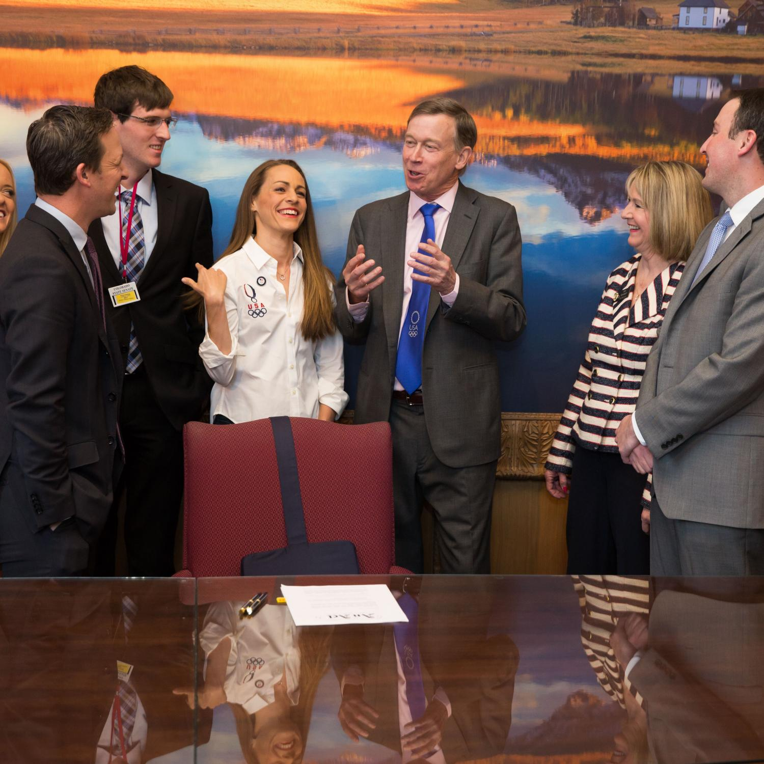 Olympians in-state tuition bill signing