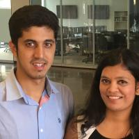 CU Denver interns Nimmi and Nikhil