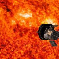 Artist's rendering of sun-set space probe