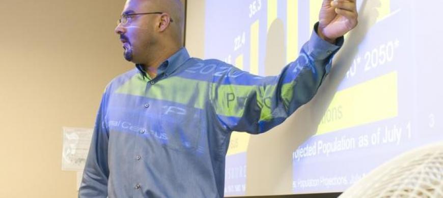 image: professor lecturing