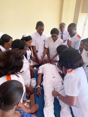 New Zambian trainers teaching the next generation of emergency nurses.