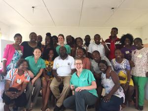 Emergency Medicine residents and their new WHO Basic Emergency Care graduates in Zambia.