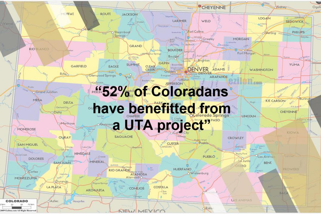 Map of UTA projects