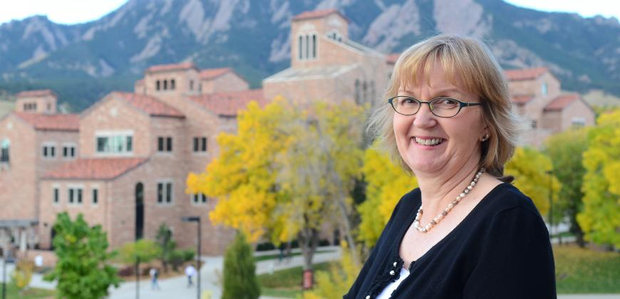 Claire Dunn on the CU Boulder Campus