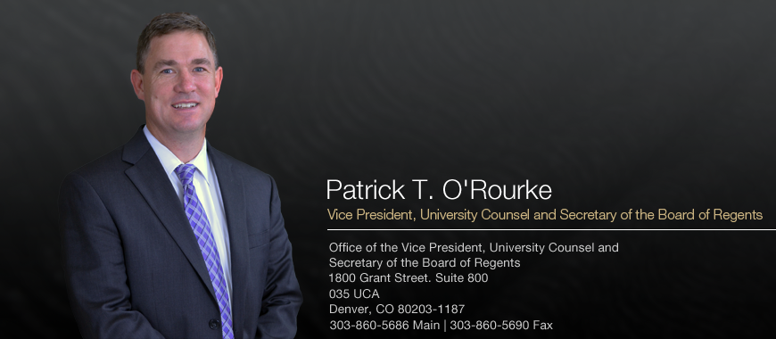 Vice President, University Counsel and Secretary of the Board of Regents
