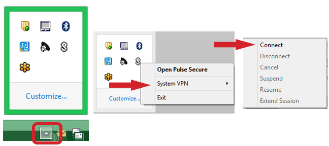 Open Pulse Secure for Windows